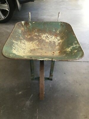 Antique Metal 8 Spoke Wheelbarrow Wheel Barrow  Antique WheelBarrow Farm Tool