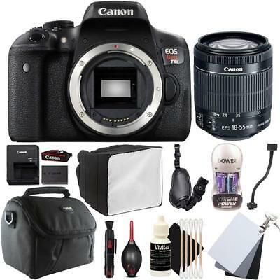 Canon EOS Rebel T6i DSLR Camera w/ 18-55mm EF-S IS STM Lens and Accessory Bundle