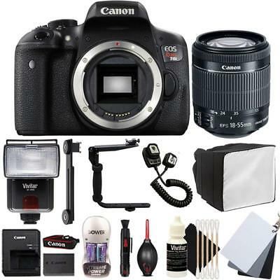 Canon EOS Rebel T6i DSLR Camera w/ 18-55mm EF-IS STM Lens and Top Accessory Kit
