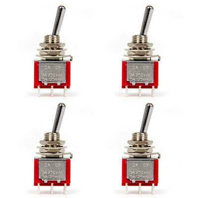 Mini Electric Guitar Toggle Switch DPDT 2 Position ON ON 6 Guitar Parts 4 Pcs
