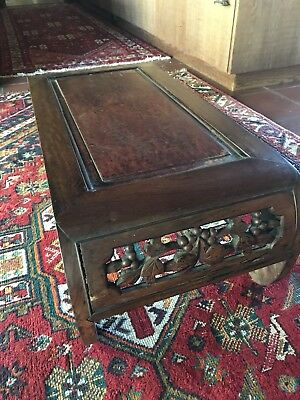 Antique Chinese Alter Table Carved Hardwood