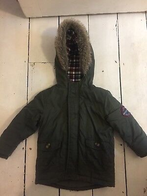 Baby Boys Warm Parker Coat / Jacket 18-24 Months By Mini Rebel Worn Once