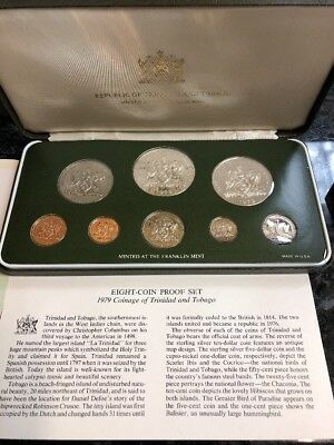 Republic Of Trinidad And Tobago (Minted At The Franklin Mint) 8 Coin Set (1979)