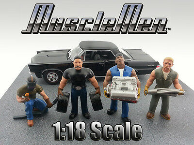 Musclemen Series -Set of ALL 4 figurines  - 1/18 scale figure - AMERICAN DIORAMA