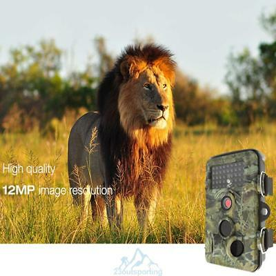 Waterproof 12MP1080P Full HD Hunting Game Trail Camera LED Infrared Night Vision