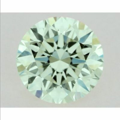 Diamant Diamond Brillantschliff 0,92 ct VVS1 Fancy Green 6,40mm