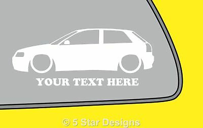 2x LOW YOUR TEXT Audi S3A3 8l TDI18t silhouette outline sticker decal 225