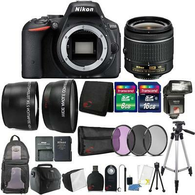 Nikon D5500 24.2MP DSLR Camera 18-55mm Lens + TTL Flash with Backpack and More
