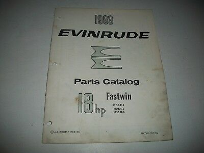 "1963  Evinrude (Johnson) ""fastwin""  18  Hp Outboard Parts List Catalog"