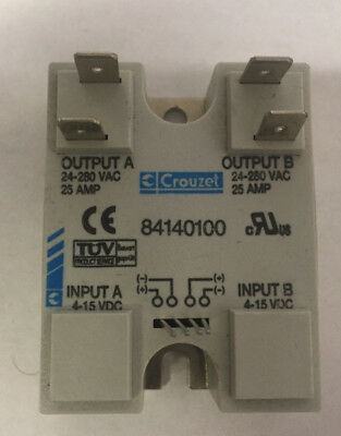 Crouzet 84140000 Panel Mount Solid State Relay SSR
