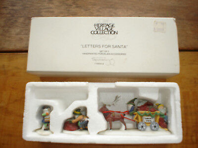 DEPT 56 Heritage Village series Collection #56049 LETTERS FOR SANTA accessory