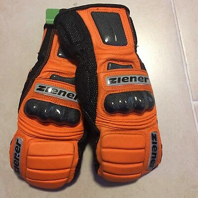 ZIENER Renn Ski Faust Handschuh GRAND VIEW Grösse 8,0 orange UVP:200€ race glove