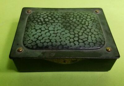 Antique Arts And Crafts Austrian Bronze Stamp Box