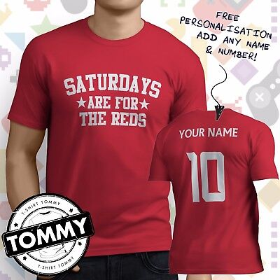 T Shirt LIVERPOOL Football Red Name Personalised FREE ktftid