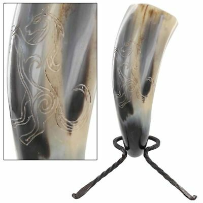 Untamed Stallion Medieval Dining Hall Ale Mead Drinking Horn