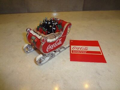 Kurt Adler Ornament Christmas Sleigh Full of Coca Cola Bottles Brand New