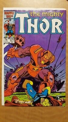 Mighty Thor #377 Marvel Comics Book VF (8.0) NR Auction Free To Ship