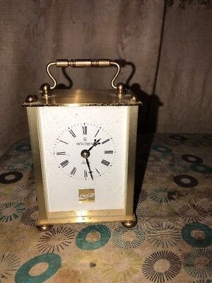 Vintage Coca-Cola Montreux Quartz Brass Carriage D Mantle Clock Made In Germany