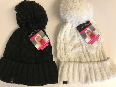 Girl's Winter Hat 40% OFF Size 7-14 Black or White Retail $22.00