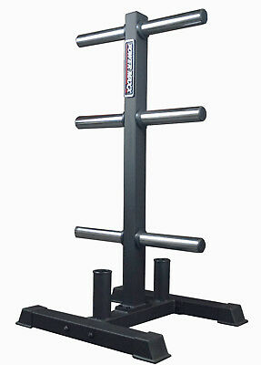 Power Maxx Olympic Weight Plate Stand  //  Storage Rack Gym Compact Bumper