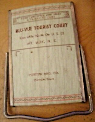 MOUNT AIRY North Carolina -BLU-VUE TOURIST COURT AD MIRROR-Andy griffith!!!!!!