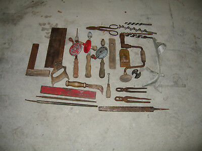 Old Antique Vintage Mixed Hand Tool Lot  14 tools