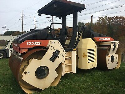 Dynapac CC622 Vibratory Smooth double Drum Roller only 577 Hours