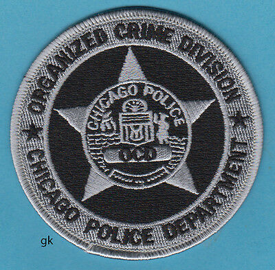 CHICAGO ORGANIZED CRIME DIVISION  OCD POLICE SHOULDER PATCH (Black)