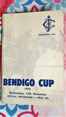 Bendigo Cup race book 1978 - Puramaka and Leica Lover