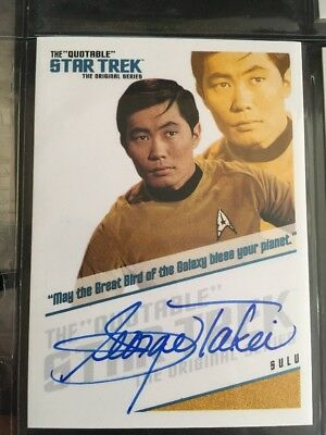 QUOTABLE STAR TREK TOS AUTO CARD QA3 George Takei As Sulu