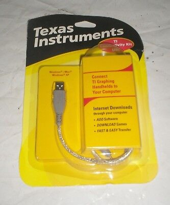 Texas Instruments TI USB Connectivity Kit Connects Handhelds to PC Computer