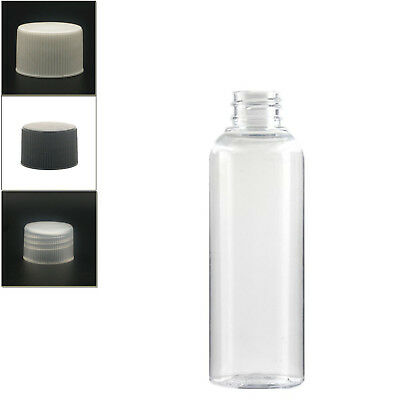 10X150ml clear empty pet plastic bottle with ribbed screw cap