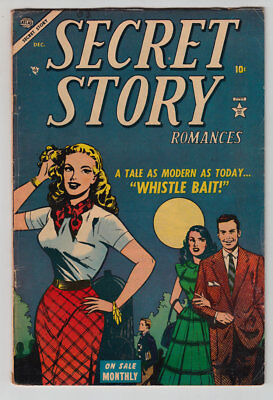 SECRET STORY ROMANCES # 2 1953 Atlas WHISTLE BAIT Jerry Robinson G-VG 3.0 JVJ