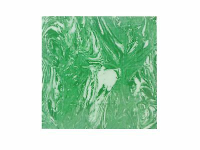 Incudo™ C Natural Malachite Reconstituted Stone Inlay Blank - 50x50x1.5mm (2x...