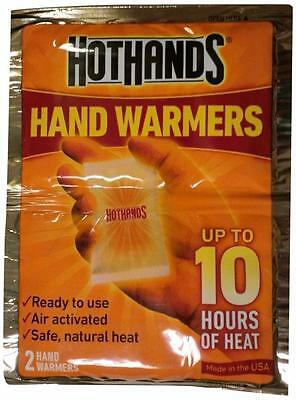 2 x Hot-Hands Hand Warmer 2 Warmers Each Up to 10 Hours Heat Ready To Use Winter