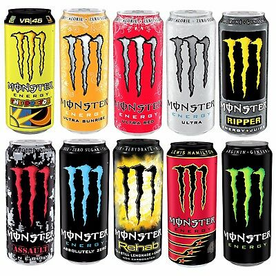 Monster Energy Drink Explosive Energy Pre Workout Caffeine Ginseng 500ml x 12
