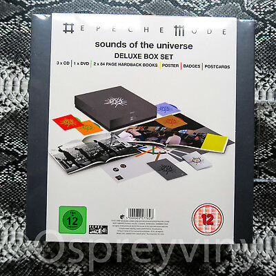 Depeche Mode Sounds Of The Universe Deluxe Box Set Factory Sealed 3xCD DVD Books