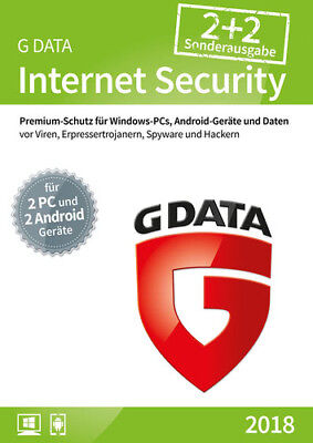 G Data Internet Security 2018 - 2+2 - 12 Monate Box PC & MAC