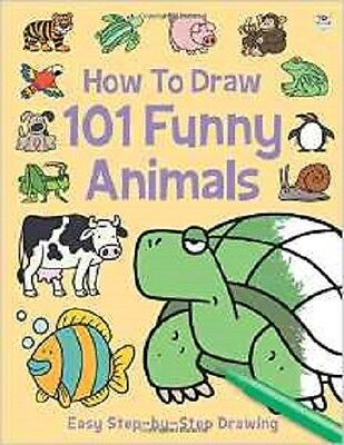How To Draw 101 Funny Animals NEW (Paperback) Book