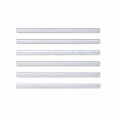 50 DURABLE A4 CLEAR PLASTIC 6mm 60 SHEET SLIDE SPINE BINDER BARS (1 Box)