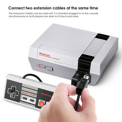 2PCS 10FT Controller Extension Cable Cord For Nintendo Mini SNES Classic Edition