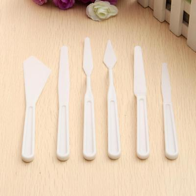 6 Pcs/Set New Oil Painting Plastic Spatula Palette Cutter Set Kits for Art Craft