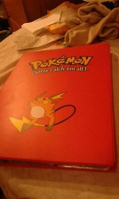 pokemon cards album book + cards All cards  and book are in great condition .
