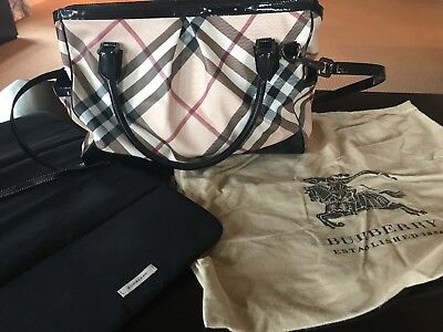 Burberry Diaper Bag/Large Tote Authentic