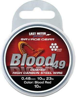 Savage Gear Blood 49 10M Coil 7x7 Steel Compartment Coated High Carbon S Tee L