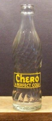 Chero A Perfect Cola Vintage ACL 6 ounce Swirl Soda Pop Bottle Nehi Bottling 403