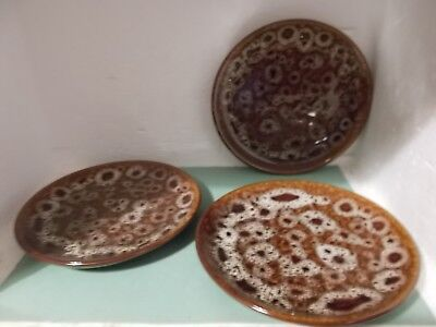 Fosters Pottery Honeycomb 16cm dia side plates x 3