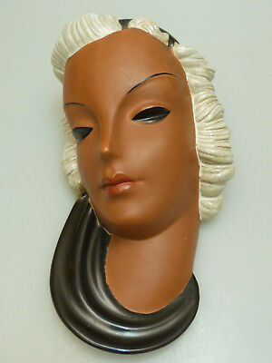 Goldscheider Germany Wandmaske Maske Art Deco Wall Mask