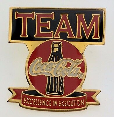 Coca-Cola Team Pin Excellence in Execution Lapel Bottle Collectible