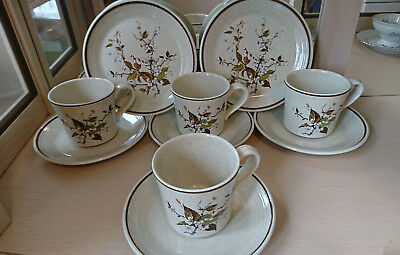 Royal Doulton WILD CHERRY Set of 4 Cup/Saucer/Salad Plate - Excellent Condition